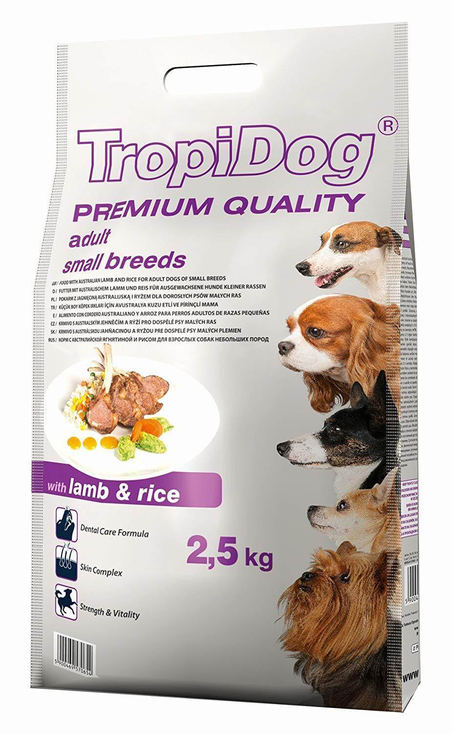 Tropidog Adult Small Breed - Lamb and Rice 2.5kg / 8kg