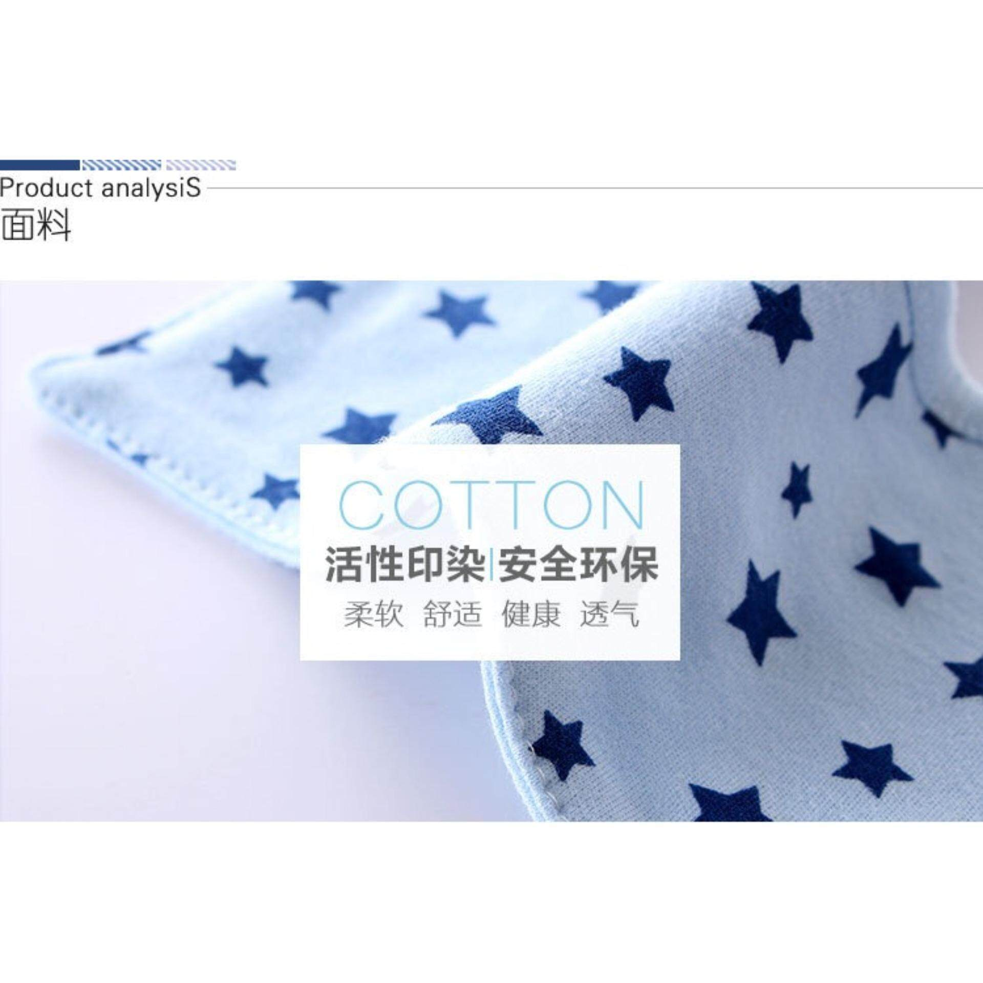 Infant Baby Toddler Cotton Button Bib 360
