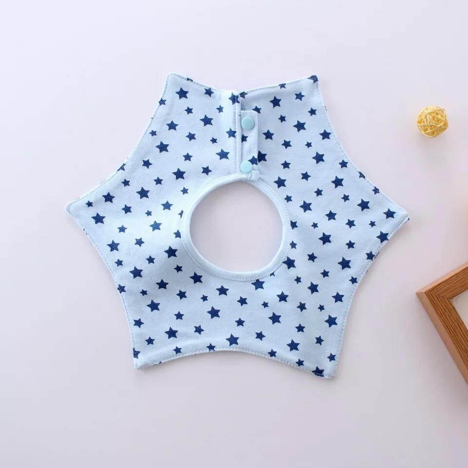 Infant Baby Toddler Cotton Button Bib 360
