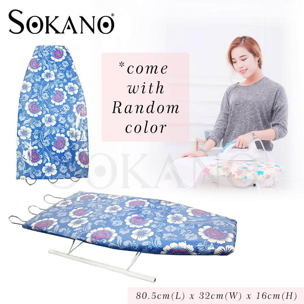 (RAYA 2019) SOKANO Household Short Sleeveboard Mini Ironing Board with Folding Legs (Random Design and Colour)