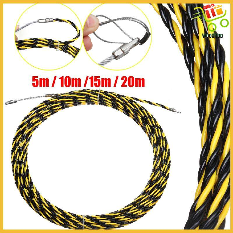 16.4FT/33FT/49FT/65FT Electrician Wire Cable Threading Device+2 PIECE(s) Wire Harness - 10M / 20M / 5M / 15M