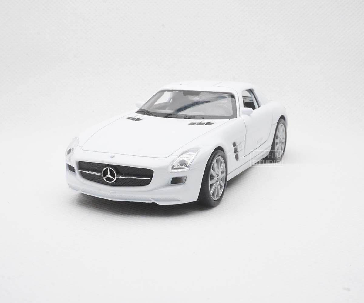 Welly Mercedes-benz SLS AMG racing 1/36 1/32 1/34 Diescat Car model White
