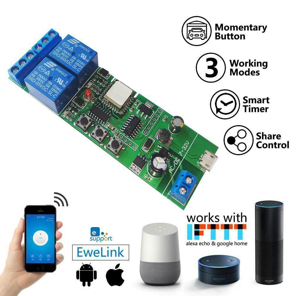 SONOFF USB 5V Or DC 7V-32V DIY 4 Channel Jog Inching Self-locking WIFI  Wireless Smart Home Switch APP Remote Control