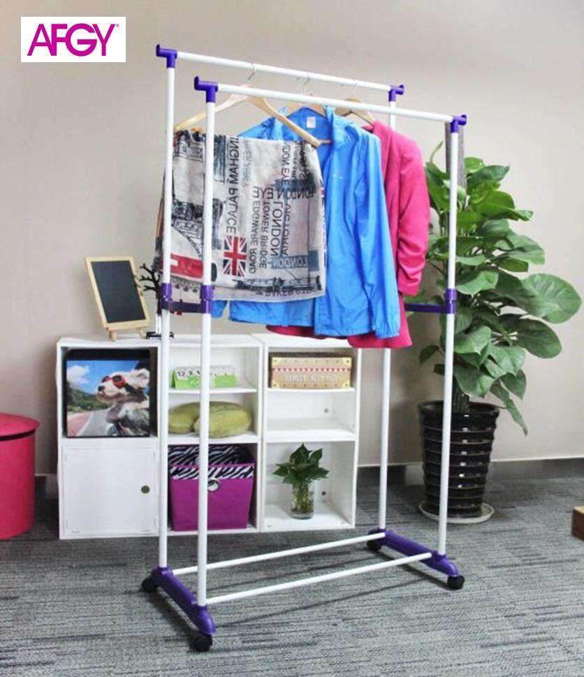 AFGY FGR 112 (PURPLE) Flexi Double Pole Garment Rack