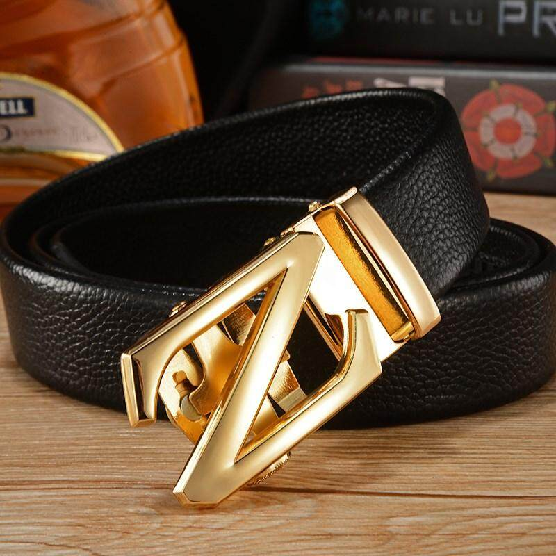 [M'sia Warehouse Direct] 100% Cowhide Leather 2019 Korean Series Men's Belt Automatic Z Buckle Series Belt Perfect Gift (come with box) Laser Zinc Alloy Luxury Style Suitable For Formal Wear Jeans Casual Wear Belt Long Lasting Tali Pinggan Kulit Halal