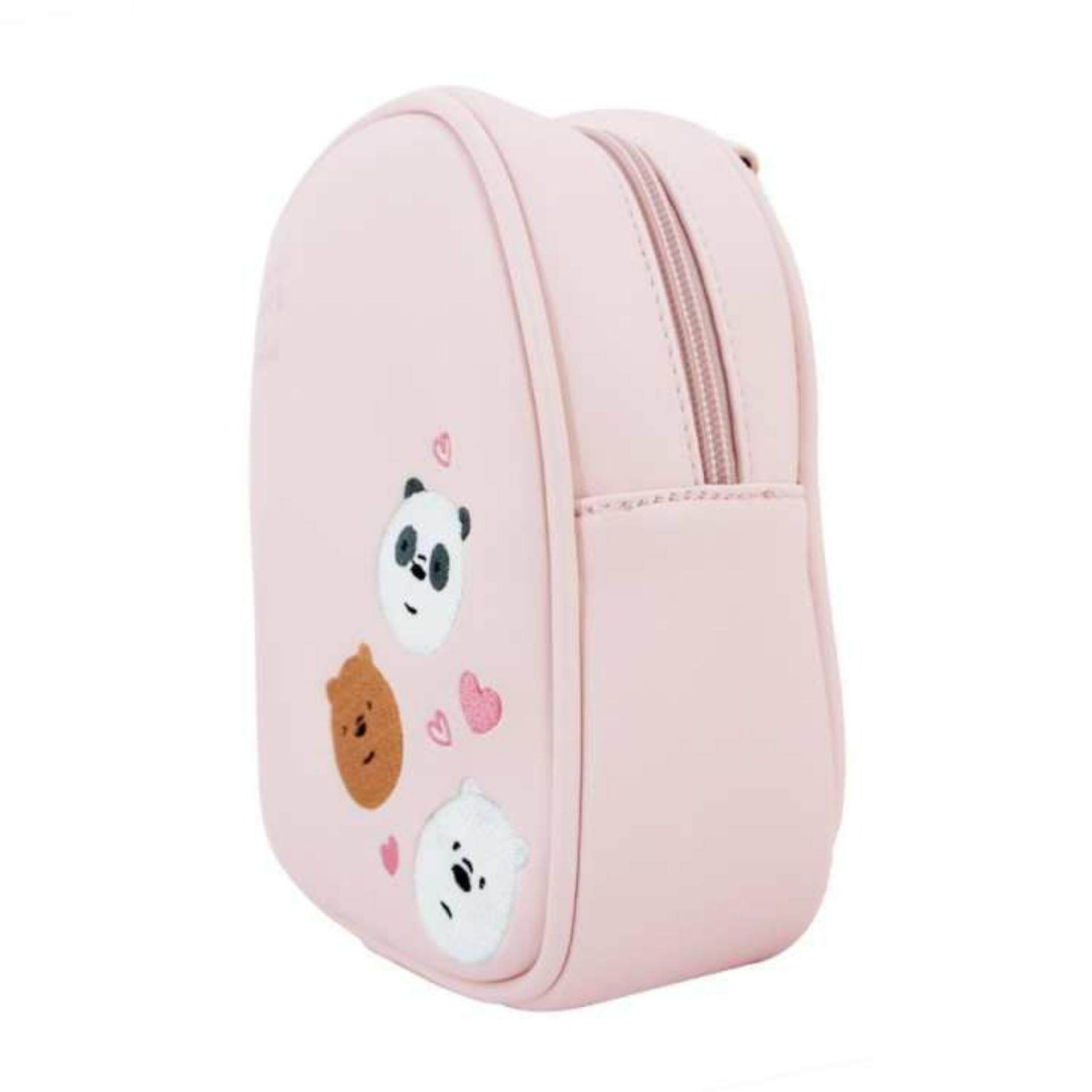 We Bare Bears Crossed Body Bag 7.5 Inches - Sakura Colour