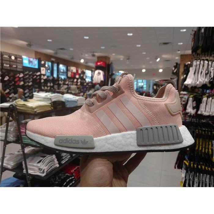 สอนใช้งาน  พะเยา [Ready หุ้น] ADIDAS NMD สีชมพูสีเทารองเท้าวิ่งตาข่ายขนาด 36-40 Kasut