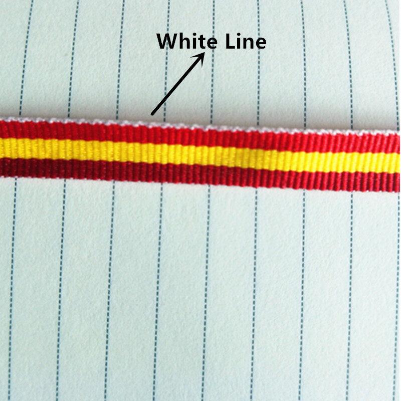 Hình ảnh Ruy Băng Kẻ Sọc Cho Thủ Công 10MM Polyester 25 Yard Cờ Tây Ban Nha Ruy Băng Lụa Sọc Trang Trí Cho Bướm Kẹp Tóc Đỏ Vàng Đỏ