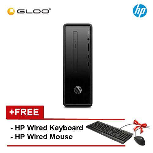 HP Slim 290-p0040d (i3-8100, 1TB, 4GB, DVDRW, UMA, W10) - Black [FREE] HP Keyboard + Mouse