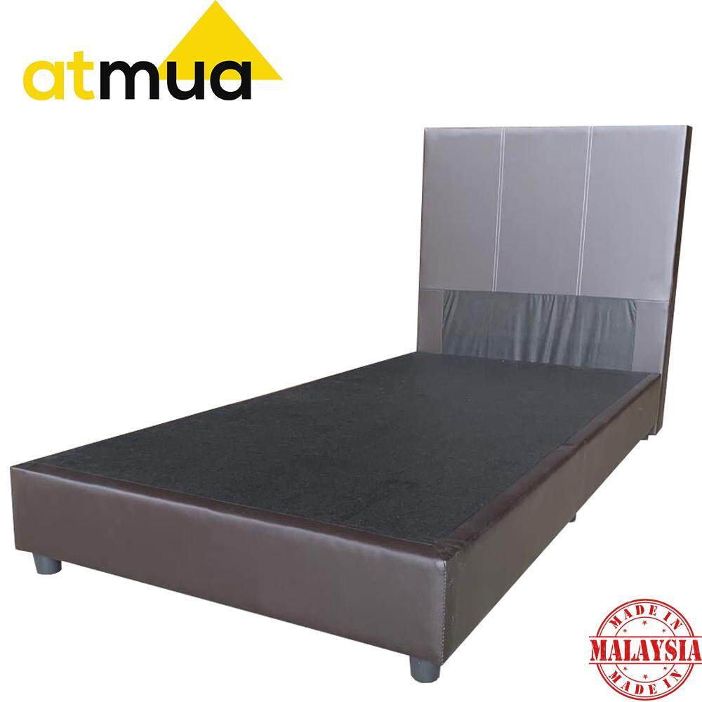 Atmua Groot Single Divan Bed [PVC Upholstery] *Strong and Durable (Not Included Mattress