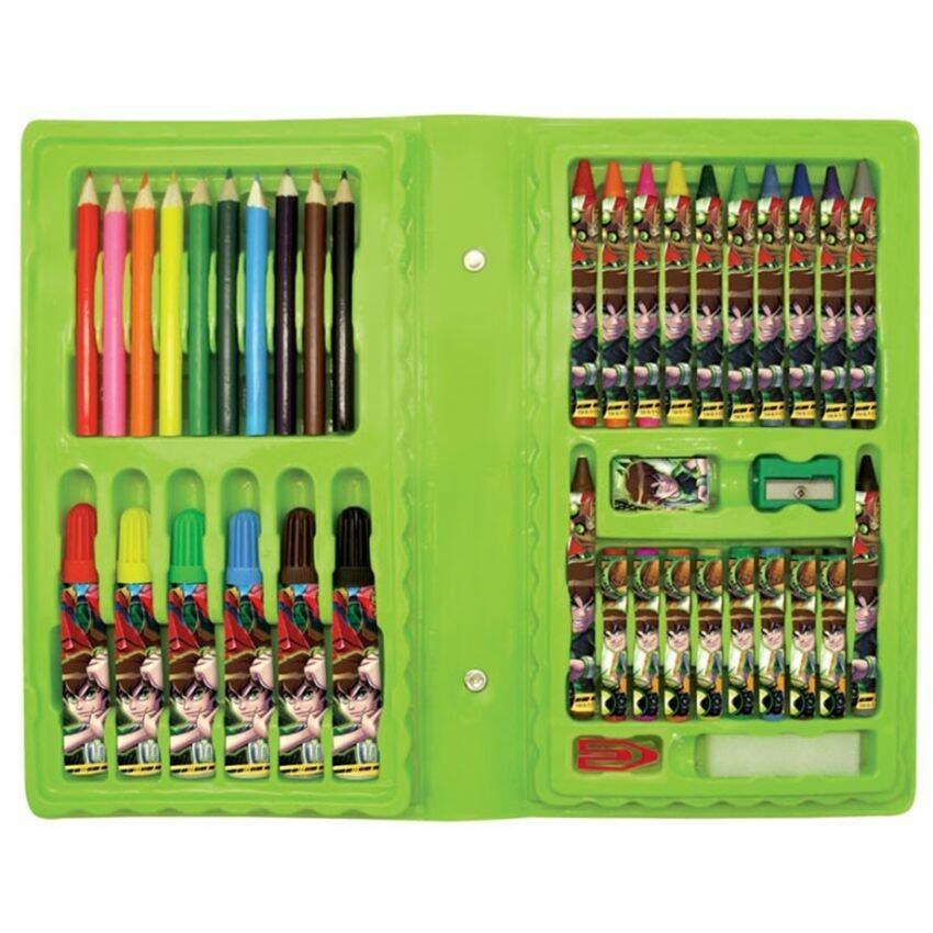 Ben 10 Omniverse Square Pencil Bag Set & Art Set - Green Colour