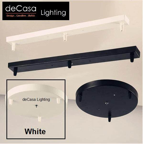 Decasa Lighting(300mm Round Base) or (500mm Long Base) 3 Pendants Fixture Ceiling Light (A-LB/RB)