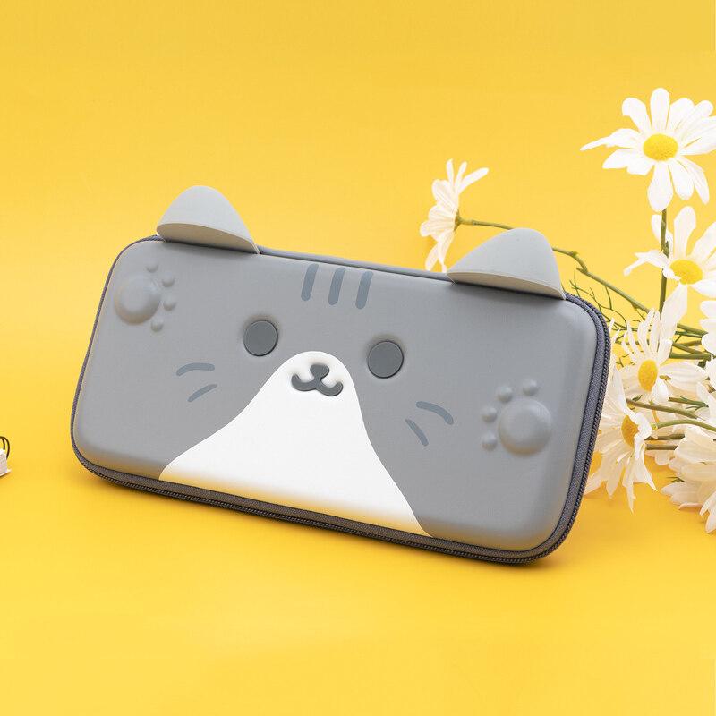 Hình ảnh Chuyển Đổi Dễ Thương Mèo Lưu Trữ Túi Silicone Tai PU Cứng Bìa Shell Waterproof Hộp Mang Trường Hợp Cho Nintendo Chuyển Đổi Phụ Kiện