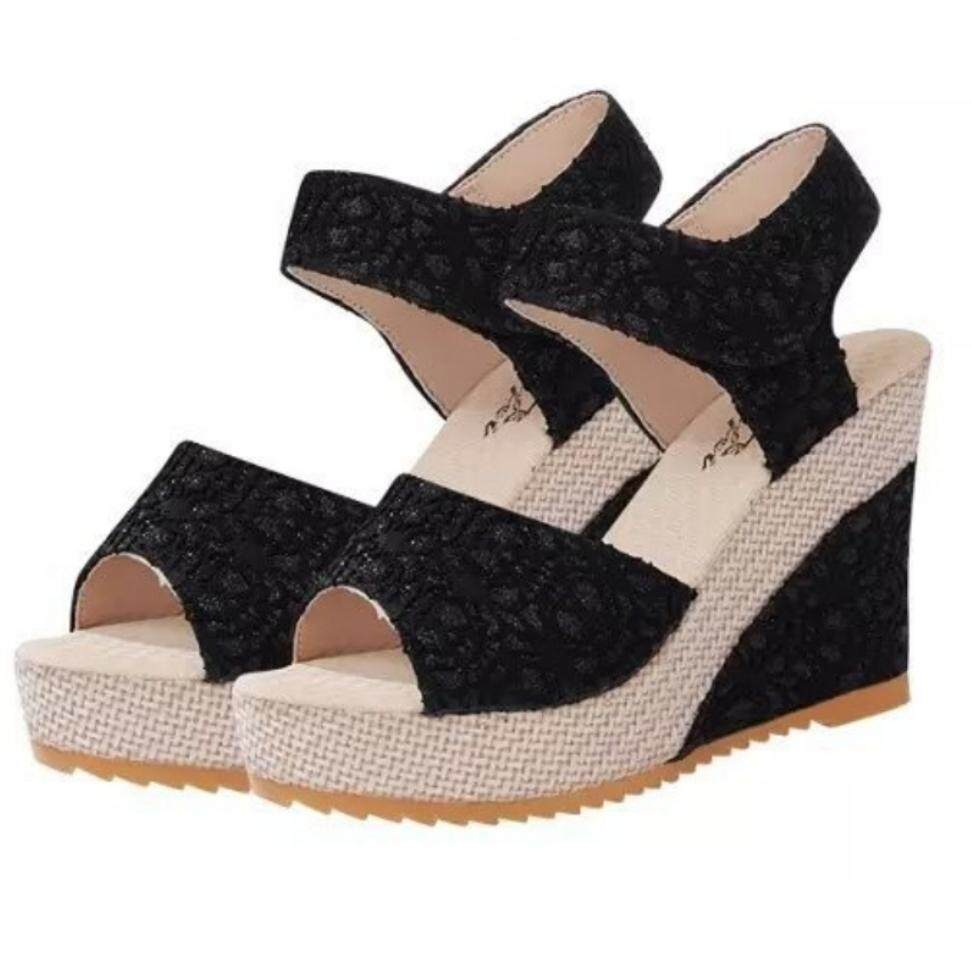 MYKUTSU Korean Lace Wedges