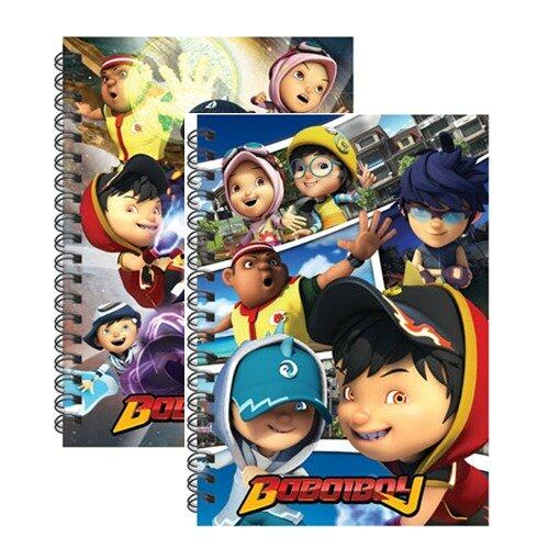 BoBoiBoy A6 Wire O Notebook Set - Blue And Purple Colour