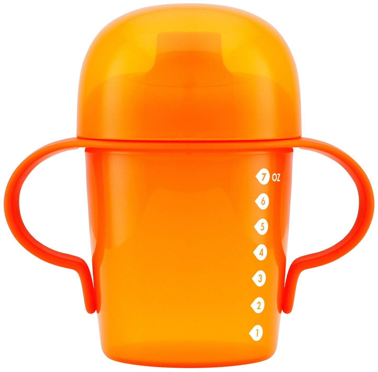 Boon Sip Short Soft Spout Sippy Cup 7oz/207ml Orange