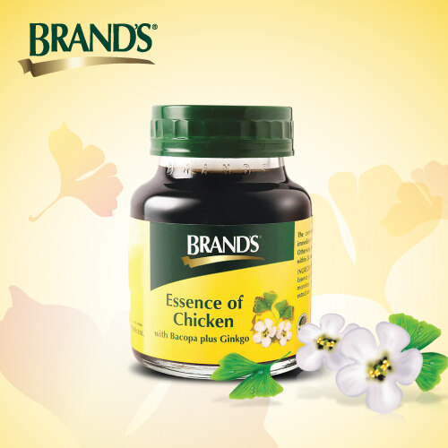 BRAND'S Essence of Chicken Twin Pack (2x 6's) + Bacopa Single Pack (1x6's) - 18 bottles x 70gm