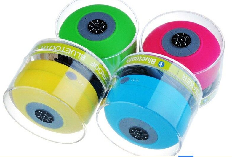BTS-06 Mini Bluetooth Speaker With Suction Cup (Green)