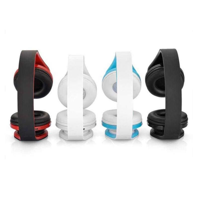 Headphones WIRELESS BLUETOOTH Head SET WIRELESS Foldable Audio Earphone Mic - WHITE / BLACK / RED / BLUE