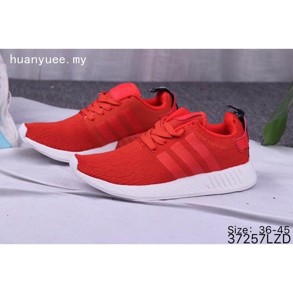 สอนใช้งาน  นครปฐม Adidas NMD_R2 PK รองเท้าผู้หญิงผู้ชายกีฬาสีแดงวิ่งรองเท้าลำลอง