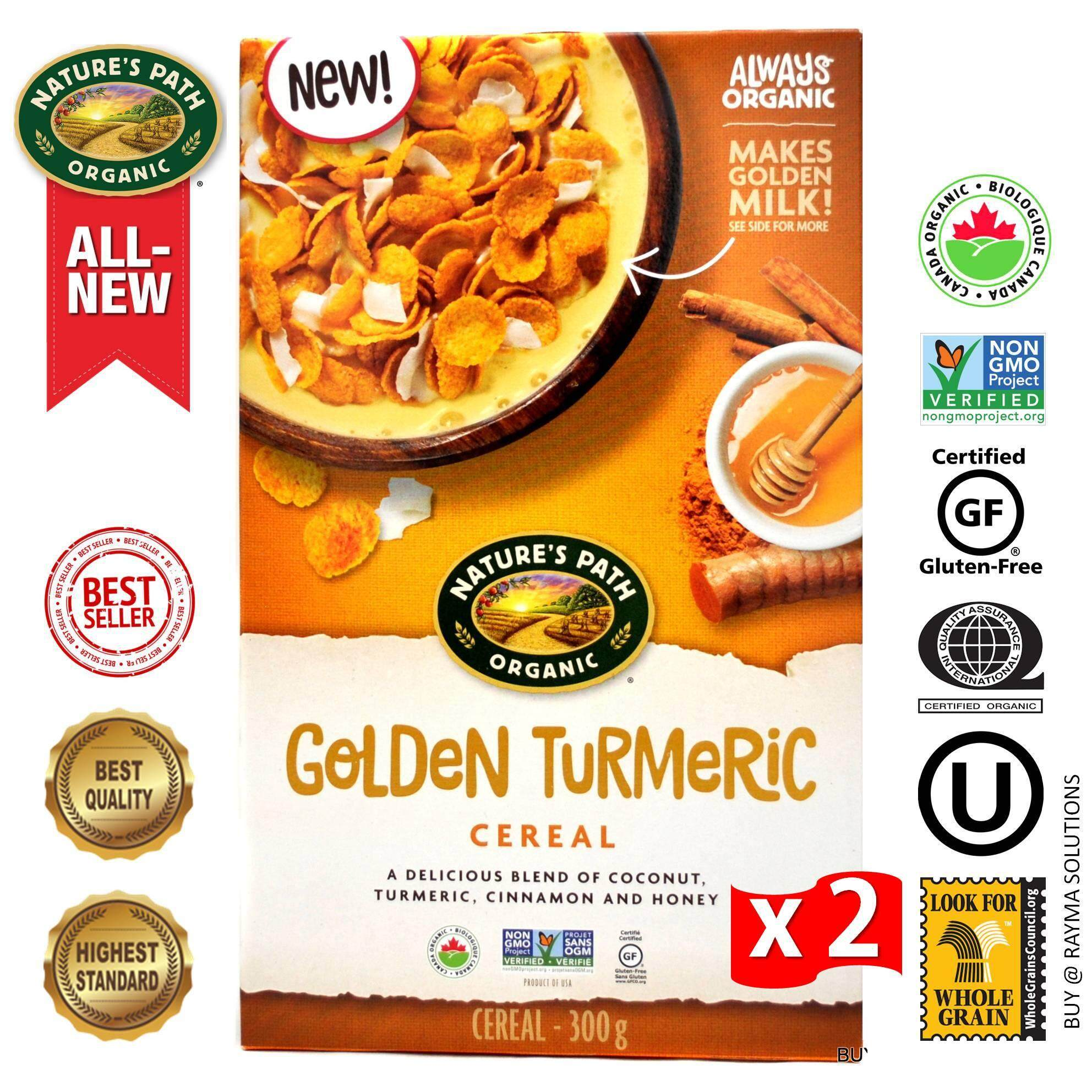 [$AVE More!] NATURE'S PATH ORGANIC Golden Turmeric Cereal, Gluten Free, 300g - Twin Pack
