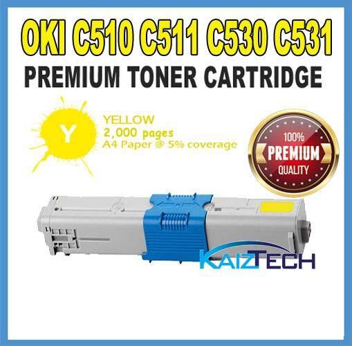 AAA OKI / Okidata  C510 / C511 / C530 / C531 / MC361 / MC362 / MC561 / MC562 Yellow Premium Compatible Toner