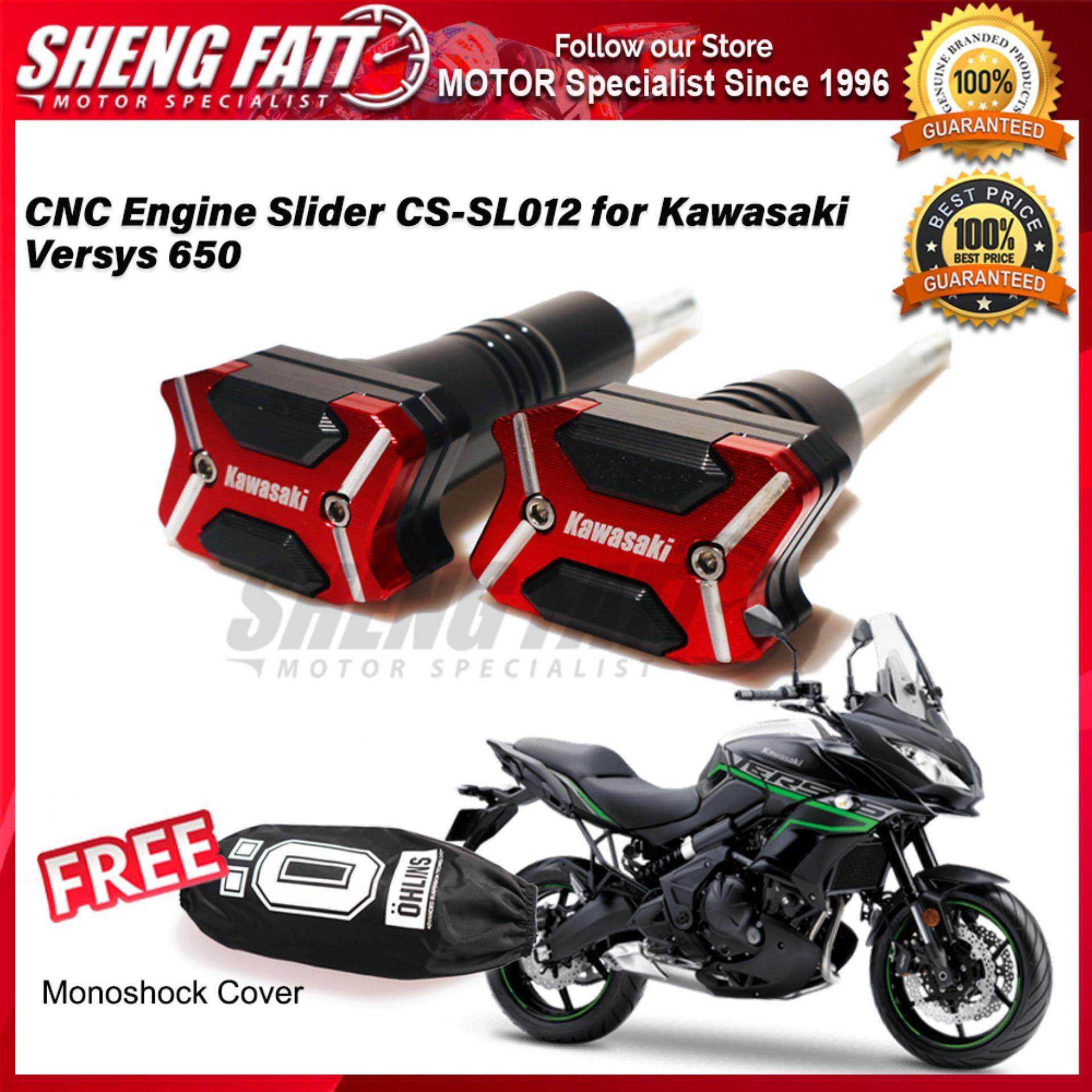 CNC Engine Slider CS-SL012 for Kawasaki Versys 650 FREE Mono Shock Monoshock Cover