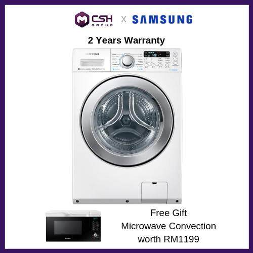 Samsung  Front Load Combo Washer with Eco Bubble, 14kg wash & 7kg dry WD14F5K5ASW/FQ