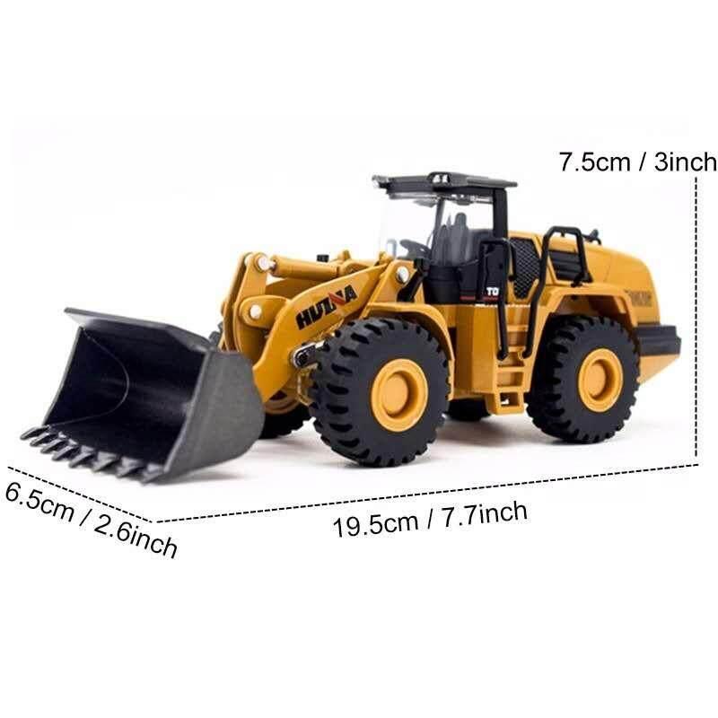 Huina 7714 1:50 Wheel Bulldozer Car Alloy Truck Toys Construction Vehicle Model
