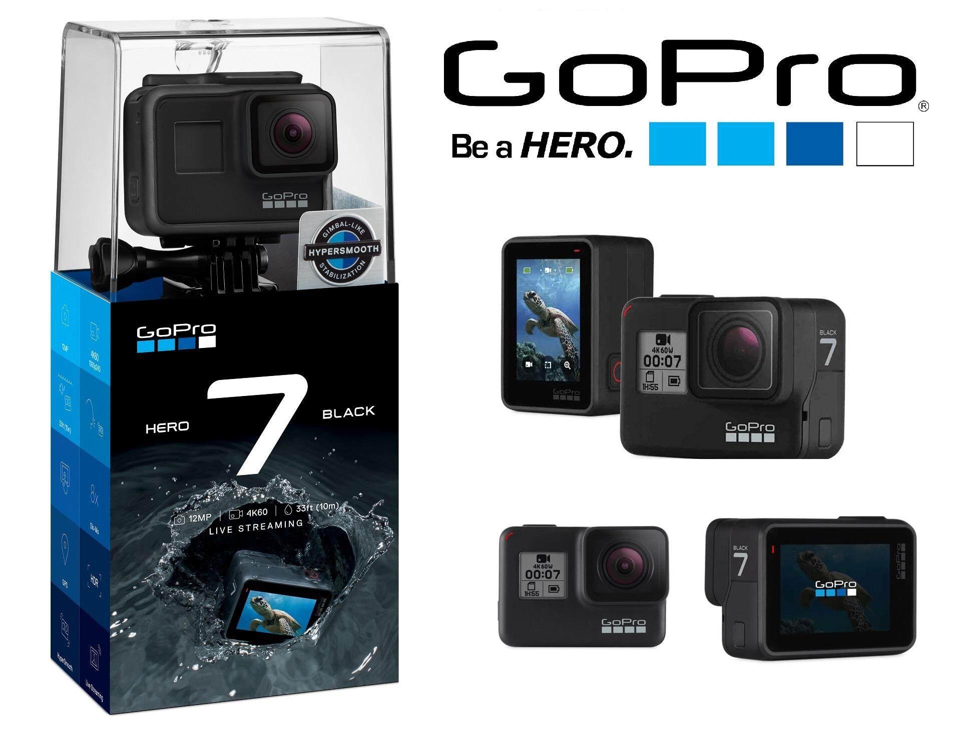 GoPro HERO 7 Black [FunSportz Malaysia Warranty] FOC 1pc Extra GoPro Battery, 1pc GoPro Sleeve+Lanyard, 1pc Sandisk Extreme 32GB SD CARD, 1pc 3WAY Monopod & 1pc GoCase Bag