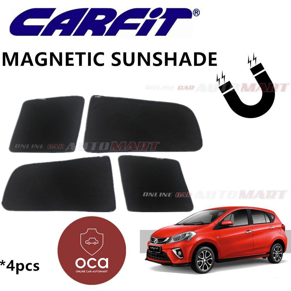 CARFIT OEM Magnetic Custom Fit Sunshade For Perodua Myvi Yr 2018 (4pcs Sets)