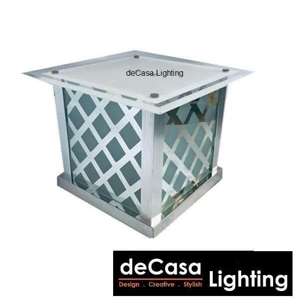 300mm Modern Design Outdoor Lighting Decorative Non-Rusting Glass Decasa Lighting Lampu Hiasan Pagar Gate Light / Pillar Lamp (O-6727-300)