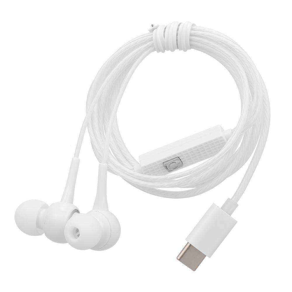 USB Type - C สายหูฟังในหูเพลงชุดหูฟังสมาร์ทหูฟังโทรศัพท์ IN - LINE Control พร้อมไมโครโฟนสำหรับ Xiaomi 6 หมายเหตุ 3 ผสม 2 Letv เลโคเล 2 3 Smartisan Pro Pro 2