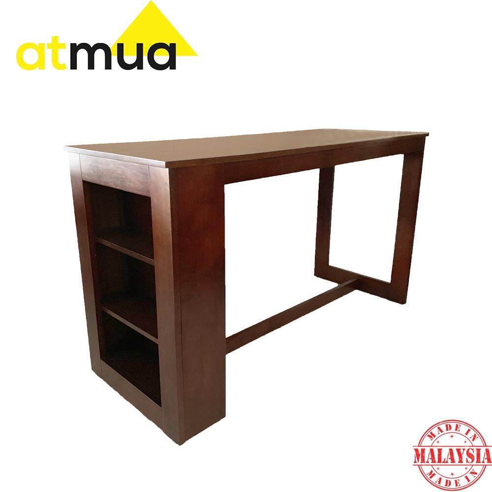 Atmua Atlas Counter Table (Not Included Chair) [Full Solid Rubber Wood] (Height: 36 Inch / 90 CM)
