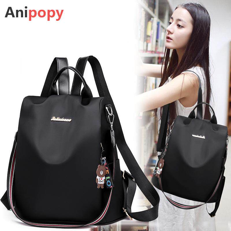 พังงา Anipopy 3 Ways Anti Theft Backpack Women Bags Fashion Daypack School Bag Lightweight Waterproof