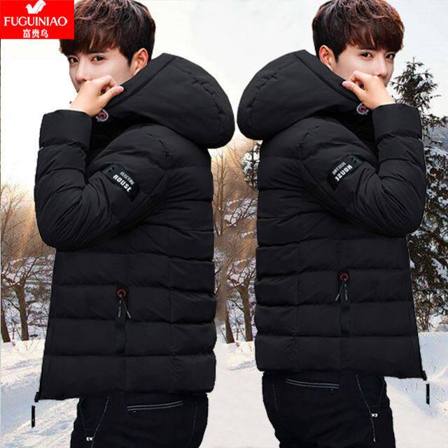 Valazo [Rich BIRD แท้] ผ้าฝ้ายเสื้อผู้ชายฤดูหนาวใหม่เสื้อฝ้ายผู้ชายเสื้อฝ้ายชายสั้นเสื้อ