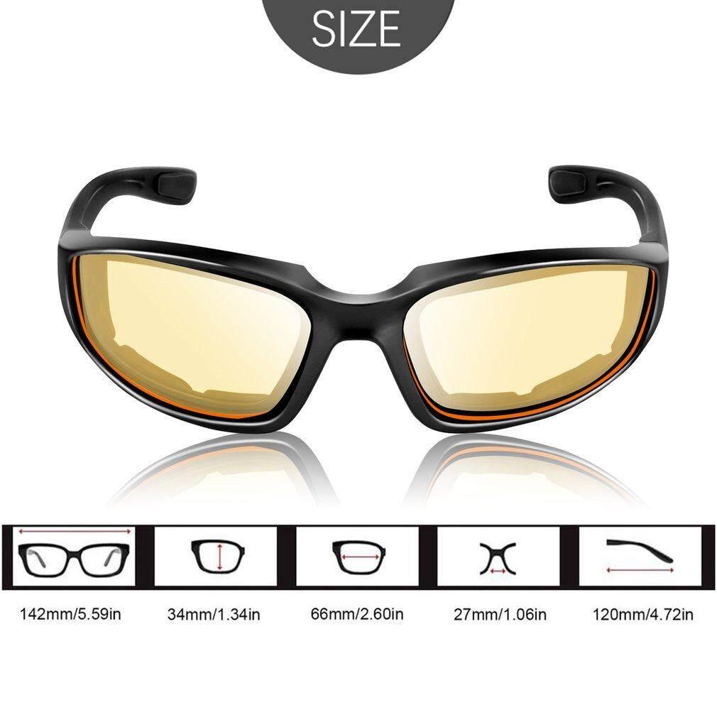 ... Oh Kacamata Sepeda Motor Tahan Angin Anti Debu Kaca Mata Goggle Kacamata Luar Ruangan - 5