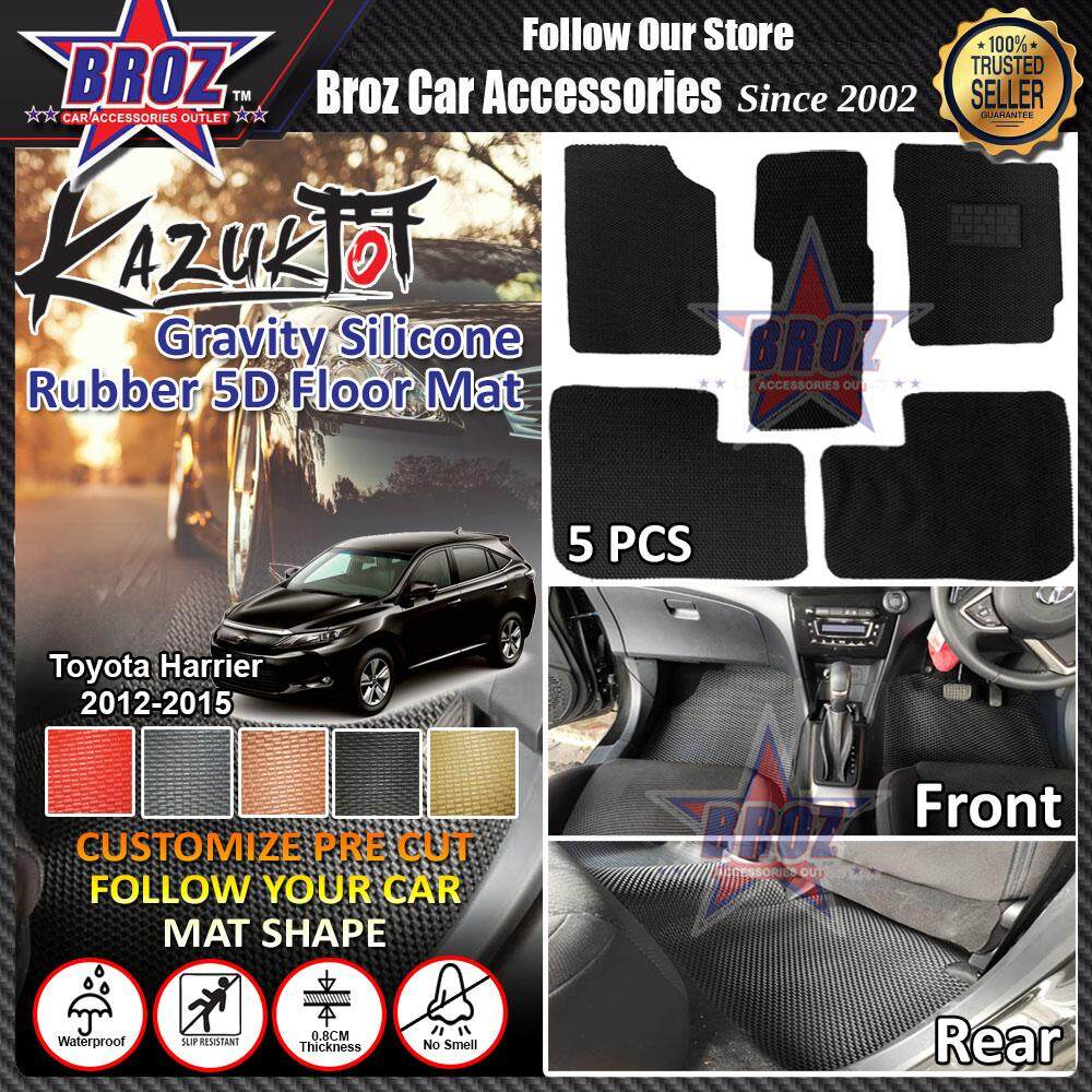 Kazuko Toyota Harrier Old 2012-2015 PRE CUT Gravity Silicone Rubber Floor Mat - 5 PCS