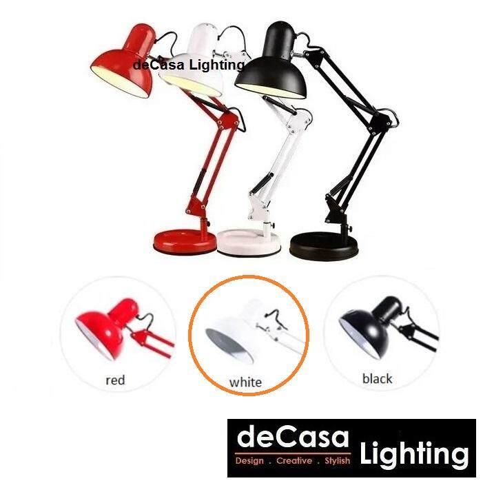 Study Lamp Table Light Desk Lamp Black , White , Red Study Light Decasa Lighting Adjustable Table Lamp Meja Lampu (BHL-810)