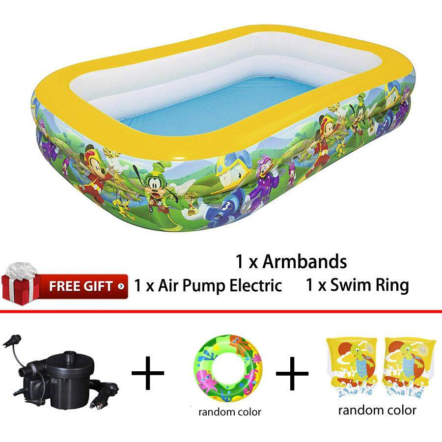 Bestway 91008 Inflatable Disney Mickey Mouse Family Pool 2.62m x 1.75m x 51cm Interactive Pool