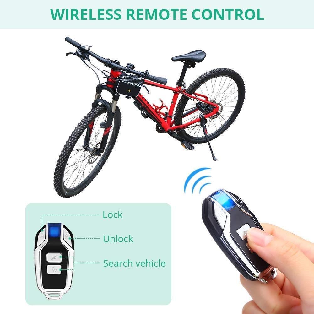 Bicycle Bike Anti-Theft Security Alarm Lock Sound Alert with Remote Control Set
