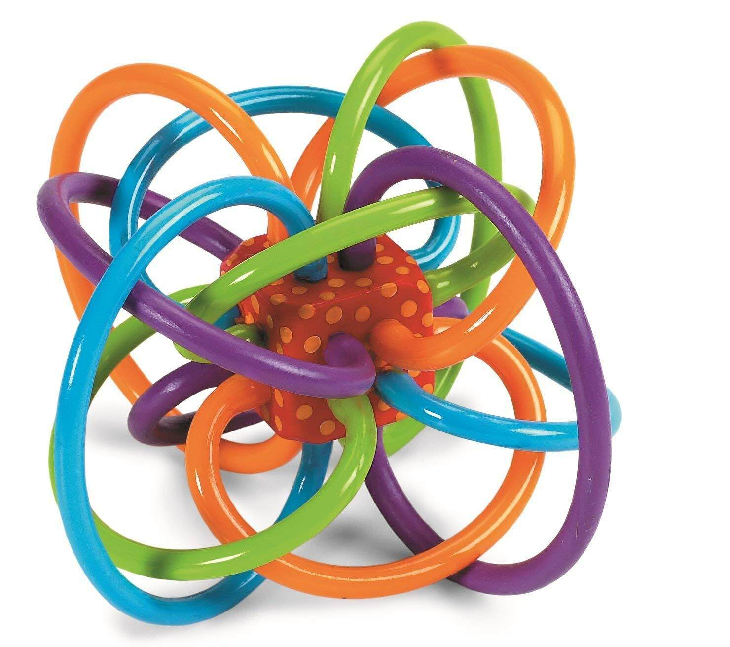 [All4kids] Manhattan Winkel Rattle and Sensory Teether Toy