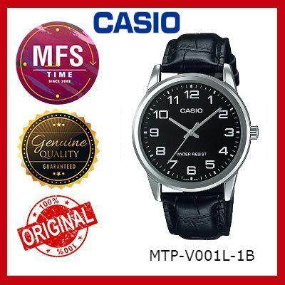 (2 YEARS WARRANTY) CASIO ORIGINAL MTP-V001L-1B STANDARD ANALOG-MEN'S WATCH