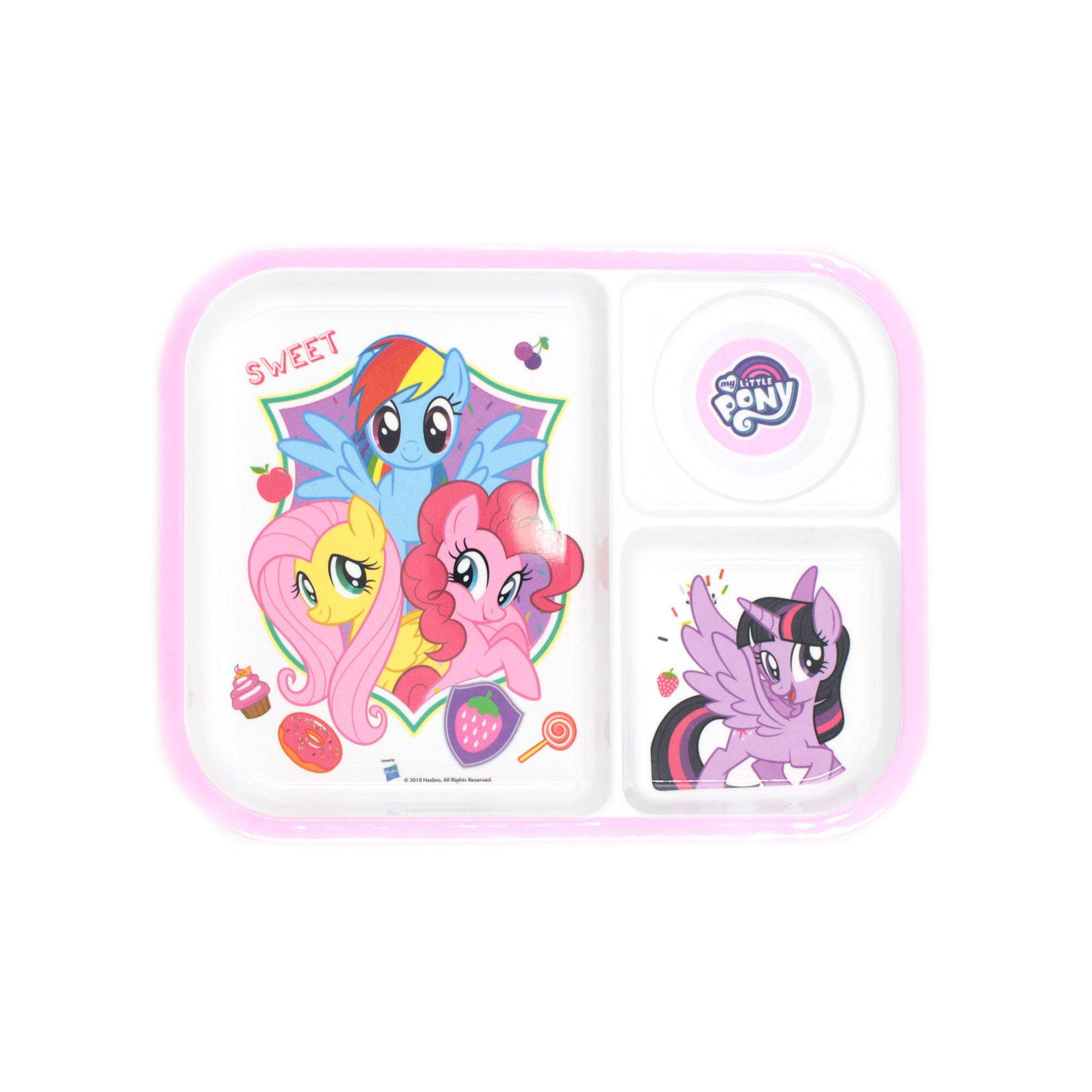 My Little Pony 3 Way Section Tray Kid\'s Party Plate - Friendship Is Magic