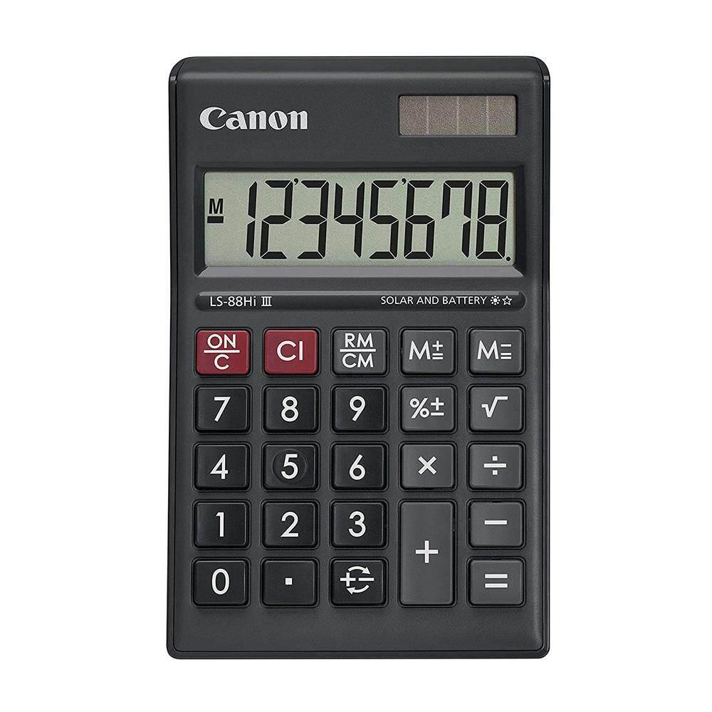 Canon LS-88Hi-III-BK 8 Digits Desktop Calculator (Black)