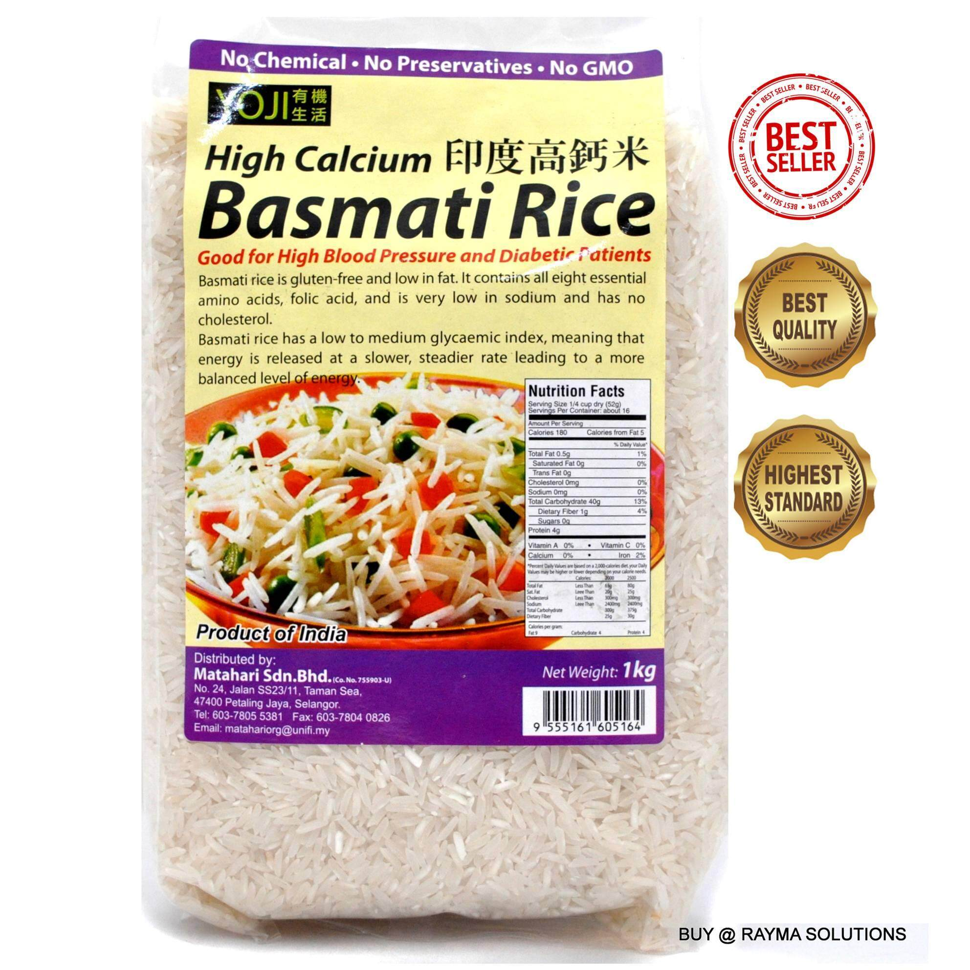 MH FOOD High Calcium Basmati Rice, Gluten Free, 1kg