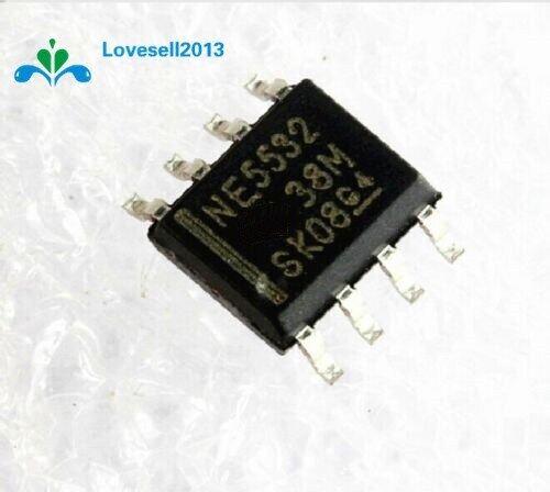 10 IC Op-Amp Tiếng Ồn Thấp Kép NE5532 N5532 SOP-8 SMD