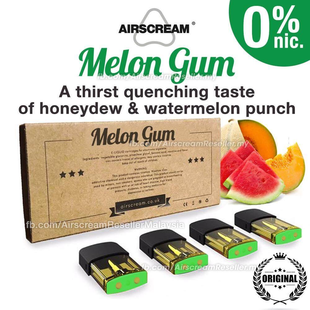 Airscream Airspops Cartridge Melon Gum Flavour 0% Nic. (4 Cartridges)
