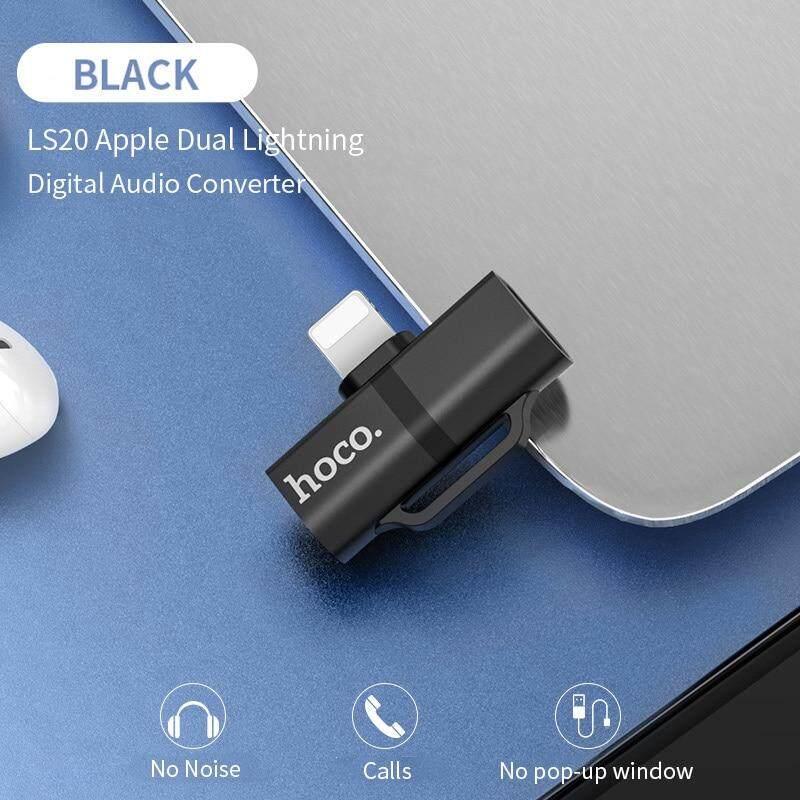 HOCO Cho iPhone 7 8 Plus X XR XS MAX Tai Nghe Lightning Chuyển Đổi 2 trong 1 Chuyển Đổi Sang 3.5mm jack Audio + Lightning