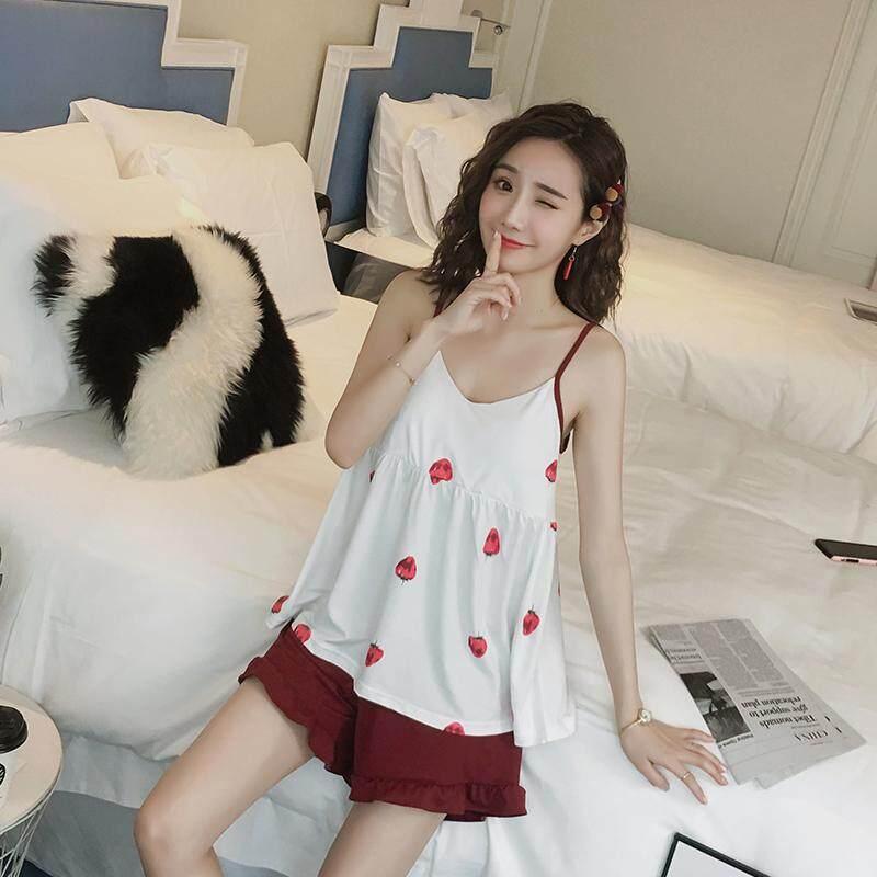 【LIMITED & READY 4 YOU】New Fashion Fruits Design Women 2pcs Sexy  Pyjamas With Pants Premium Quality (Size: M-XXL)